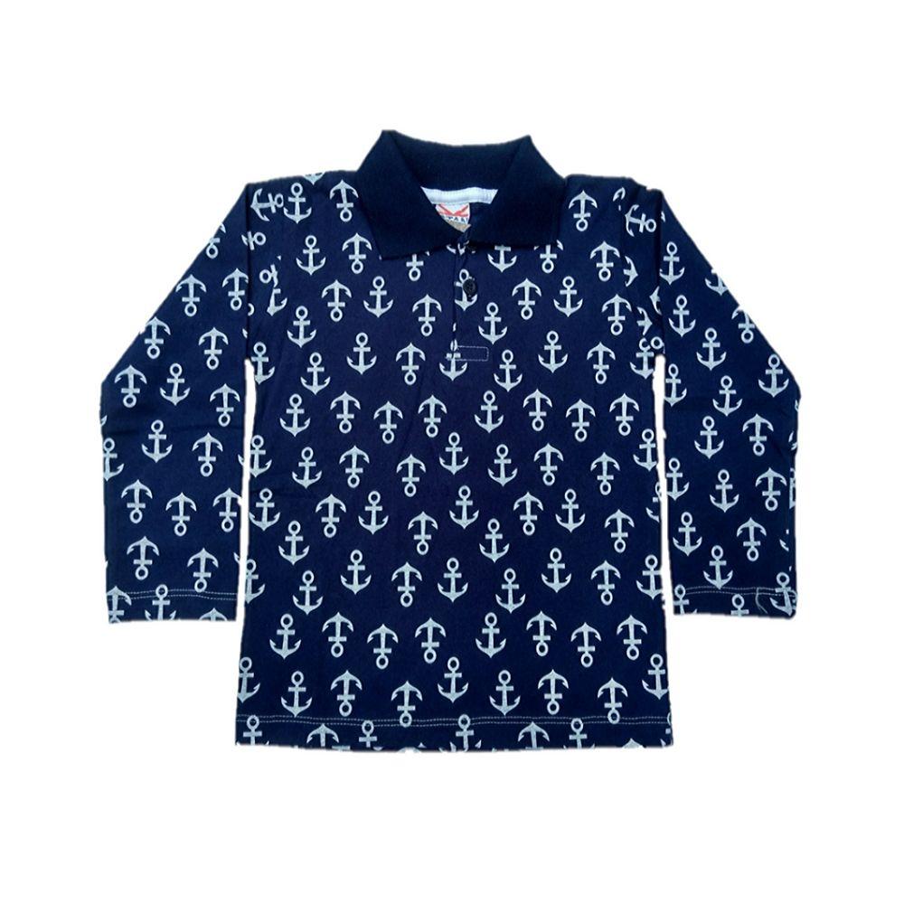 Blusa Infantil Polo- Âncoras- Otan