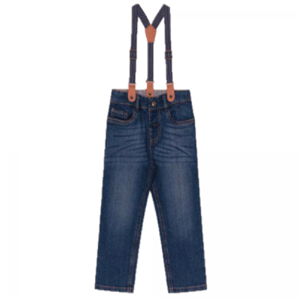 Calça Jeans Infantil Suspensório-Trick Nick