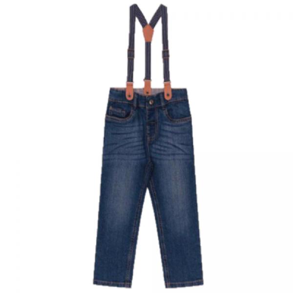 Calça Infantil Jeans Suspensório-Trick Nick