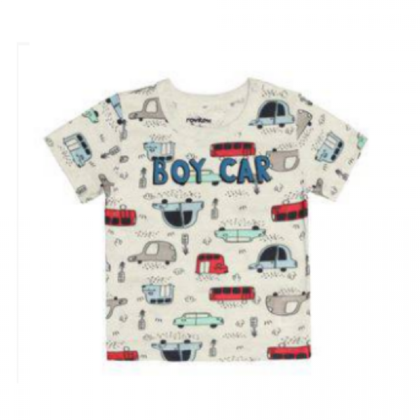 Camiseta Infantil Boy Cars-Rovitex Kids