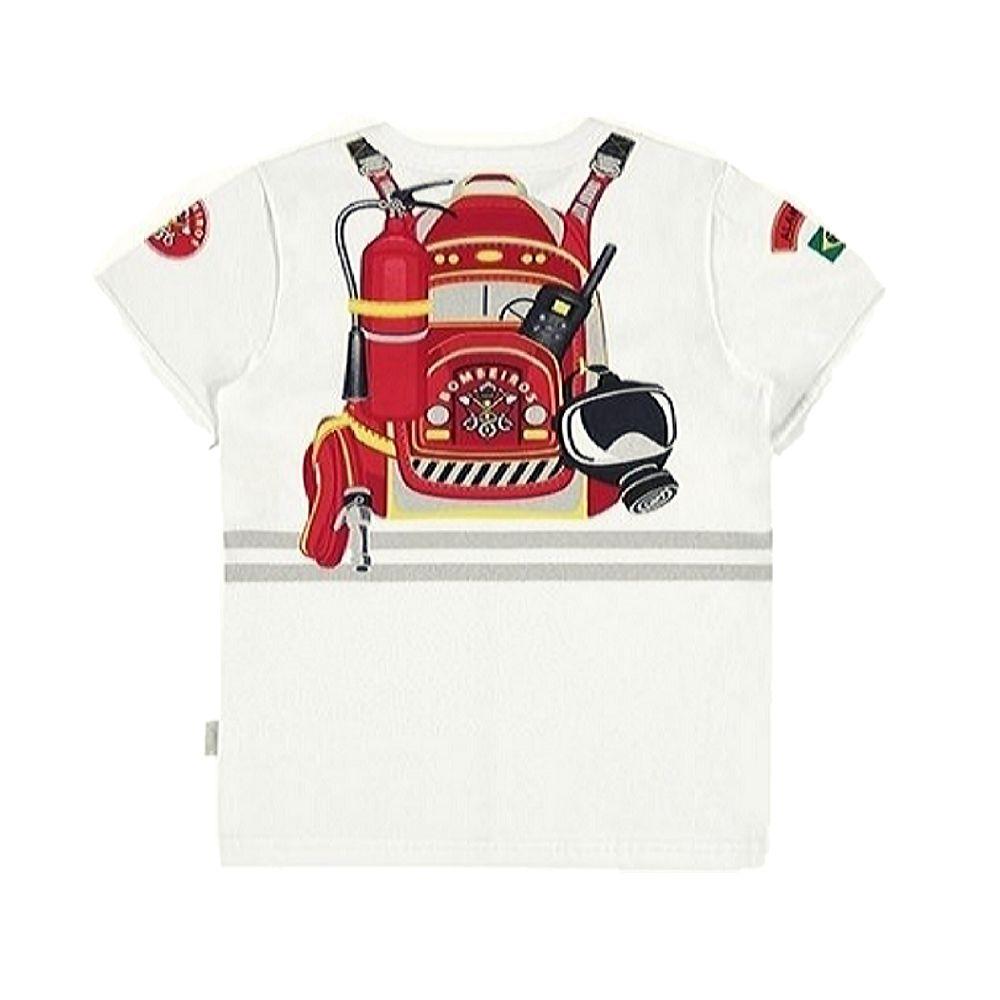 Camiseta Infantil-Bombeiro- Alakazoo