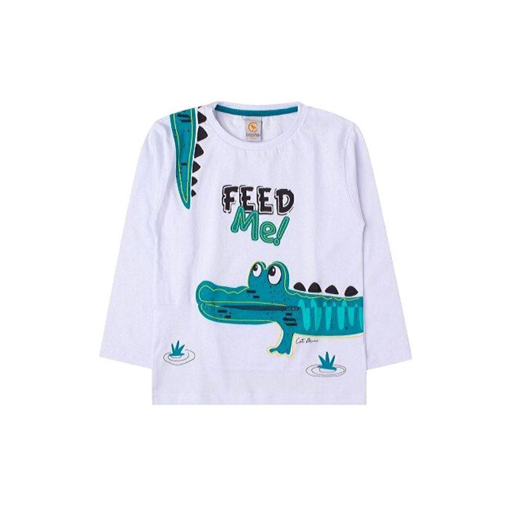 Camiseta Infantil com Bolso Jacaré - Costão Mini