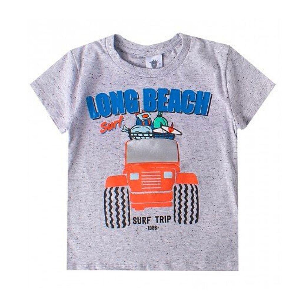 Camiseta Infantil Long Beach Mescla- By Gus