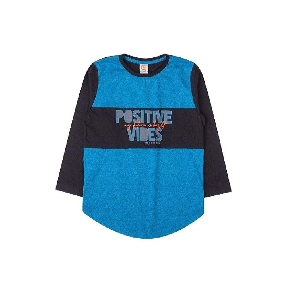 Camiseta Infantil M/L Positive - Costão Mini