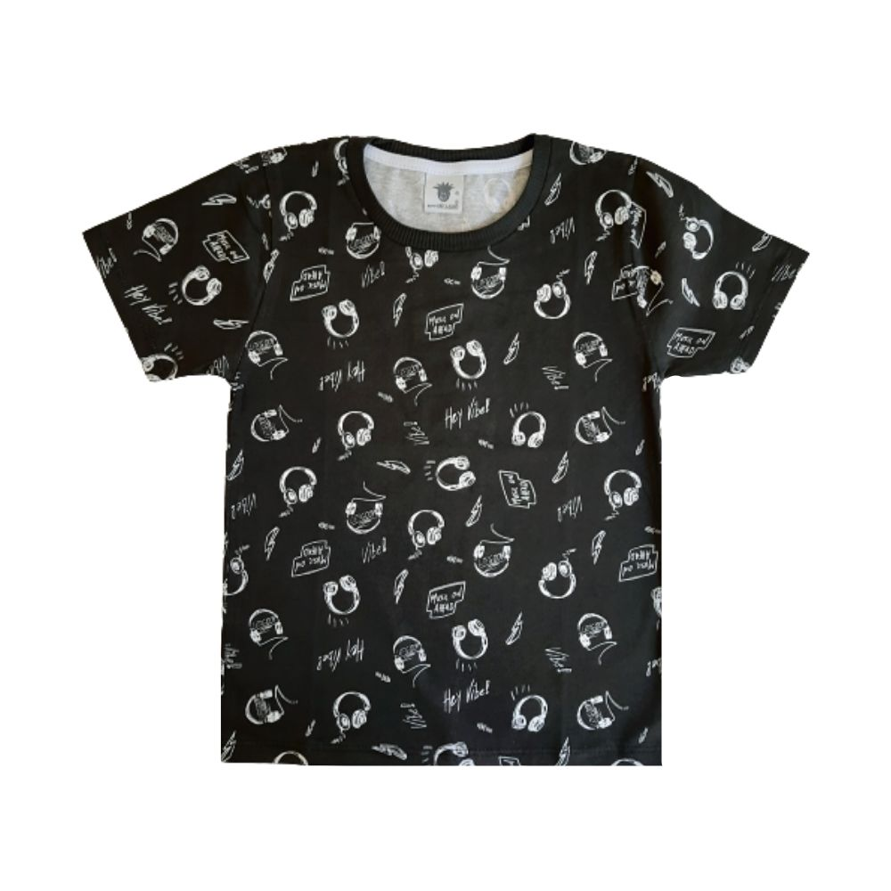 Camiseta Infantil Music On - By Gus
