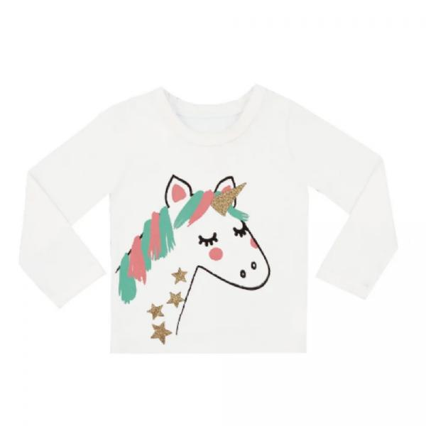 Camiseta Infantil Unicórnio - Rovitex Kids