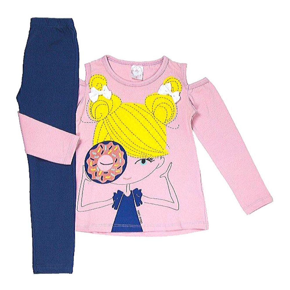 Conjunto Infantil Boneca Donuts-Ollelê Little