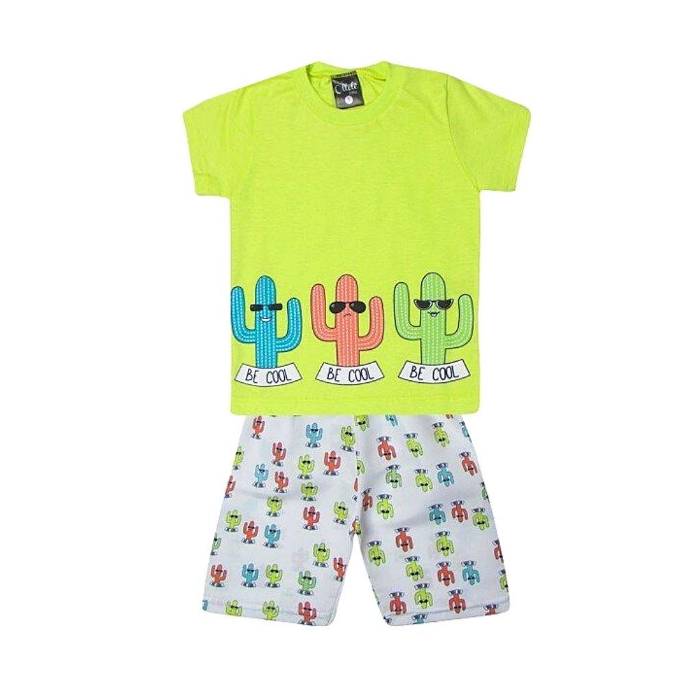 Conjunto Infantil Cactus Be Cool Neon - Ollelê