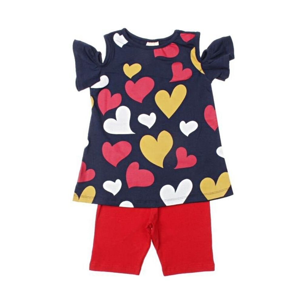 Conjunto Infantil Corações - Ollelê