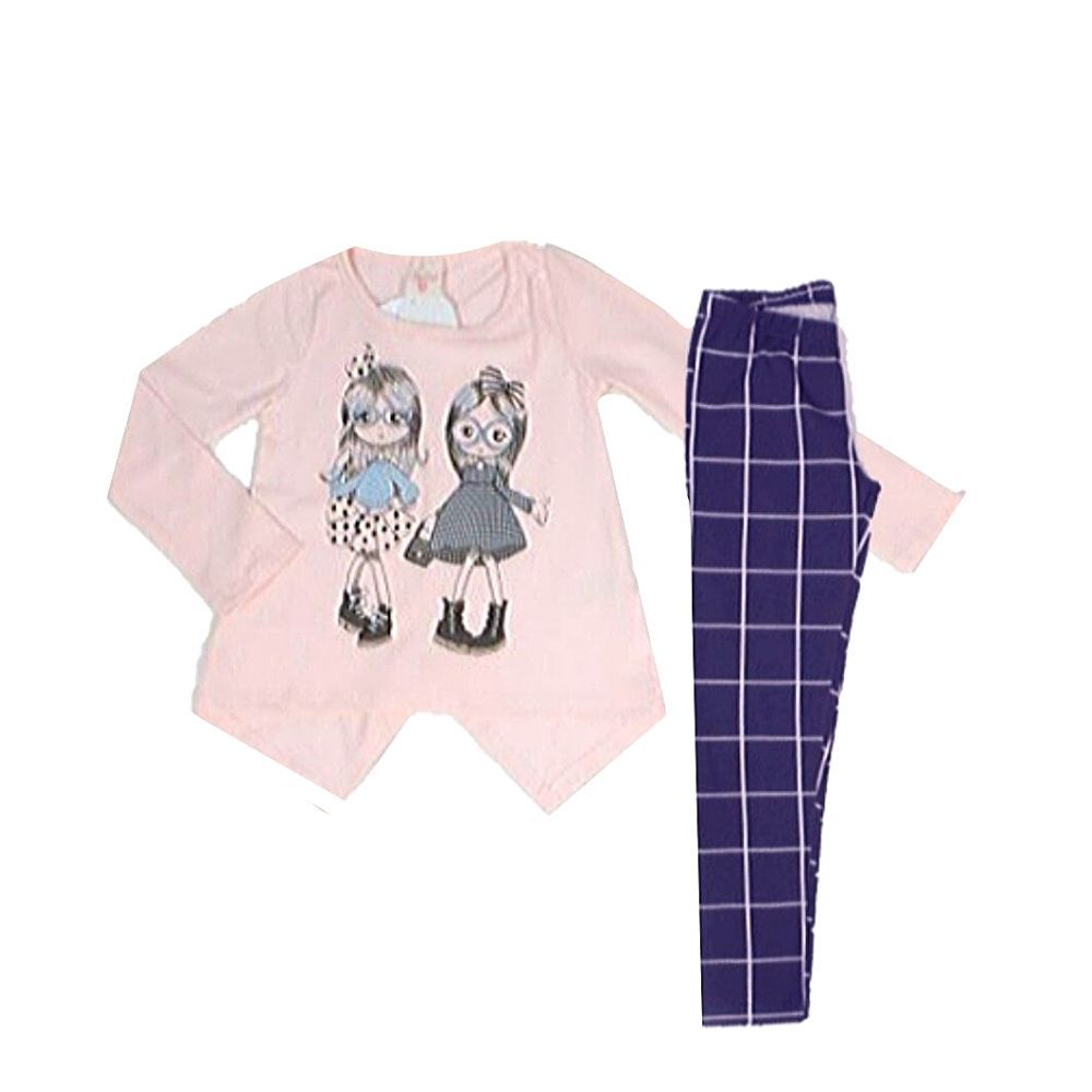 Conjunto Infantil Cotton Bonecas-By Gus