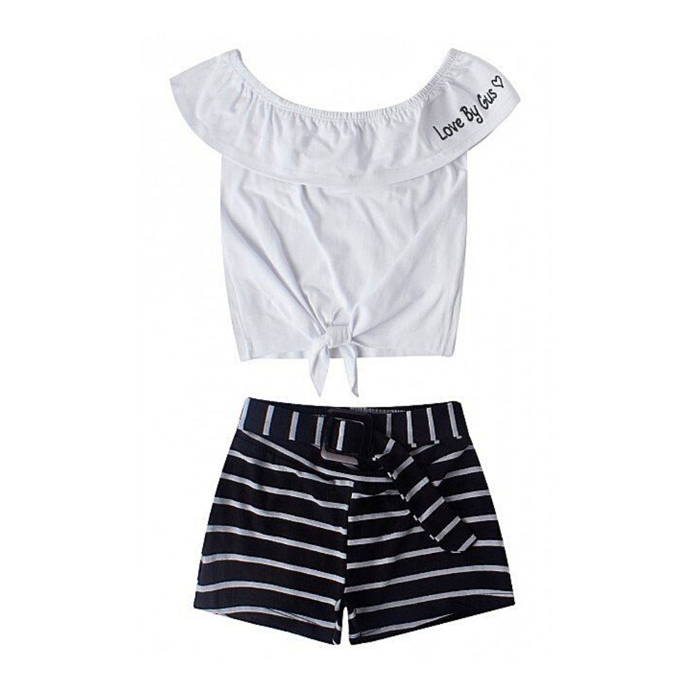 Conjunto Infantil Cropped Love- By Gus