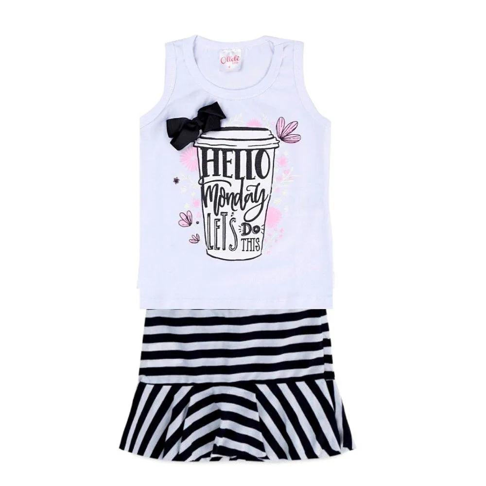 Conjunto Infantil Hello Monday - Ollelê Little