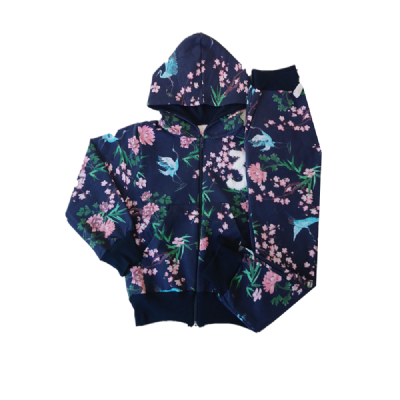 Conjunto Infantil Molecotton Floral c/Capuz-By Gus