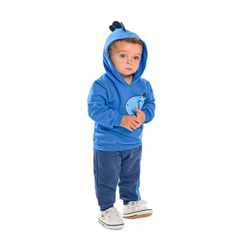 Conjunto Infantil Moletom Capuz Roar- Rolú