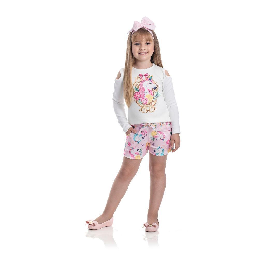 Conjunto Infantil Unicórnio-For Girl