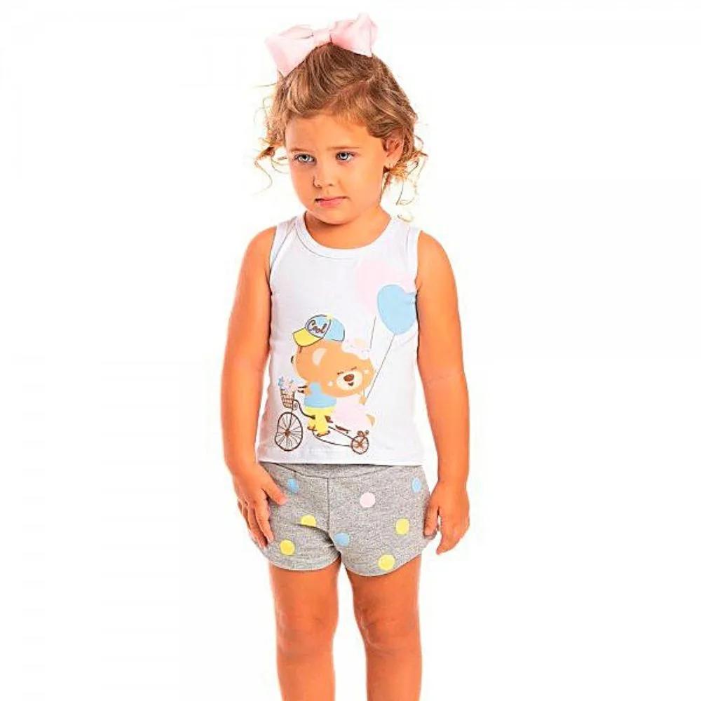 Conjunto Infantil Ursinho Cool- Ollelê Little