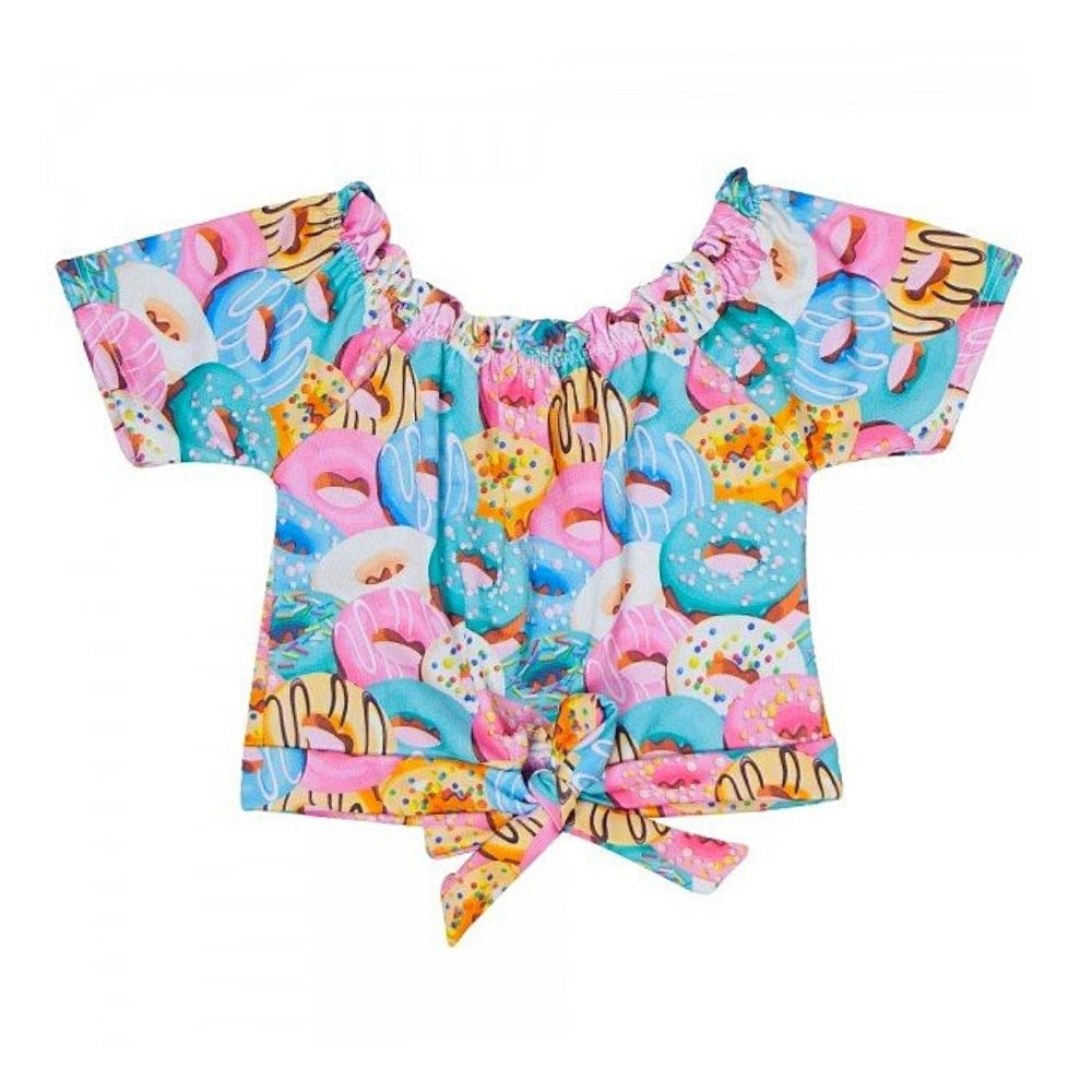 Cropped Infantil Ciganinha Donuts- By Gus