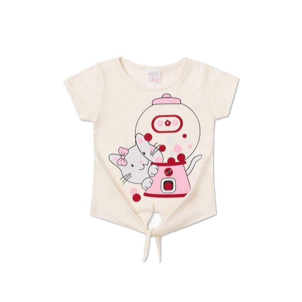 Cropped Infantil Cute Cat- Ollelê Litlle