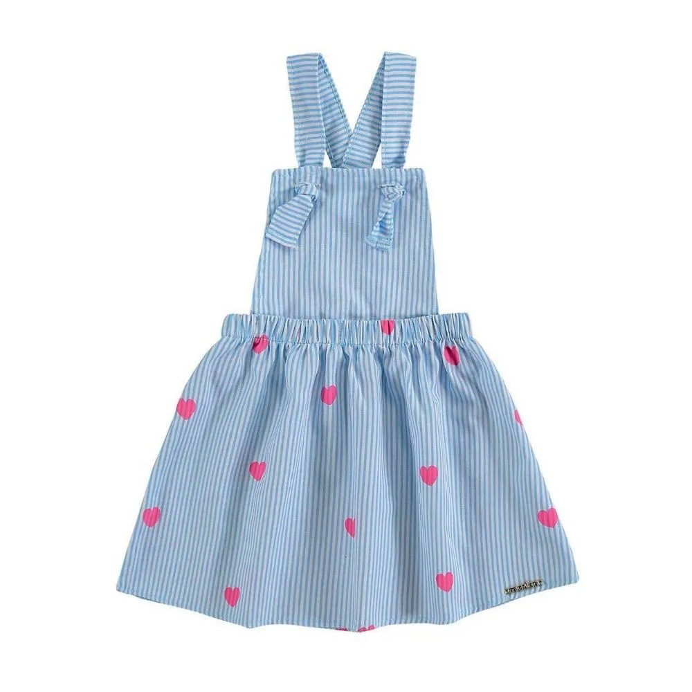 Jardineira Infantil Corações - Marlan
