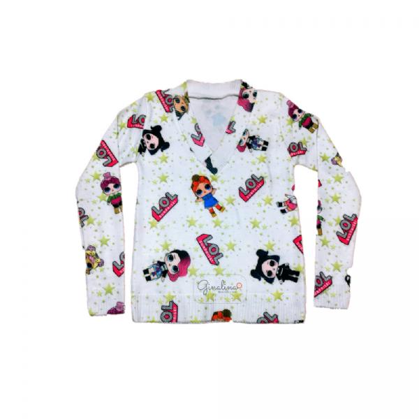 Suéter Infantil-Estampa LOL
