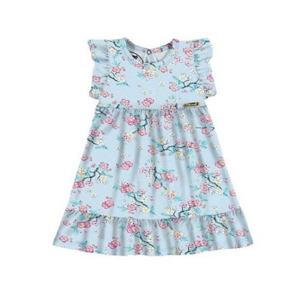 Vestido Bebê Floral - Alakazoo
