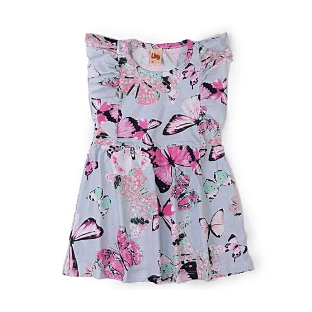 Vestido Infantil Borboletas - Livy