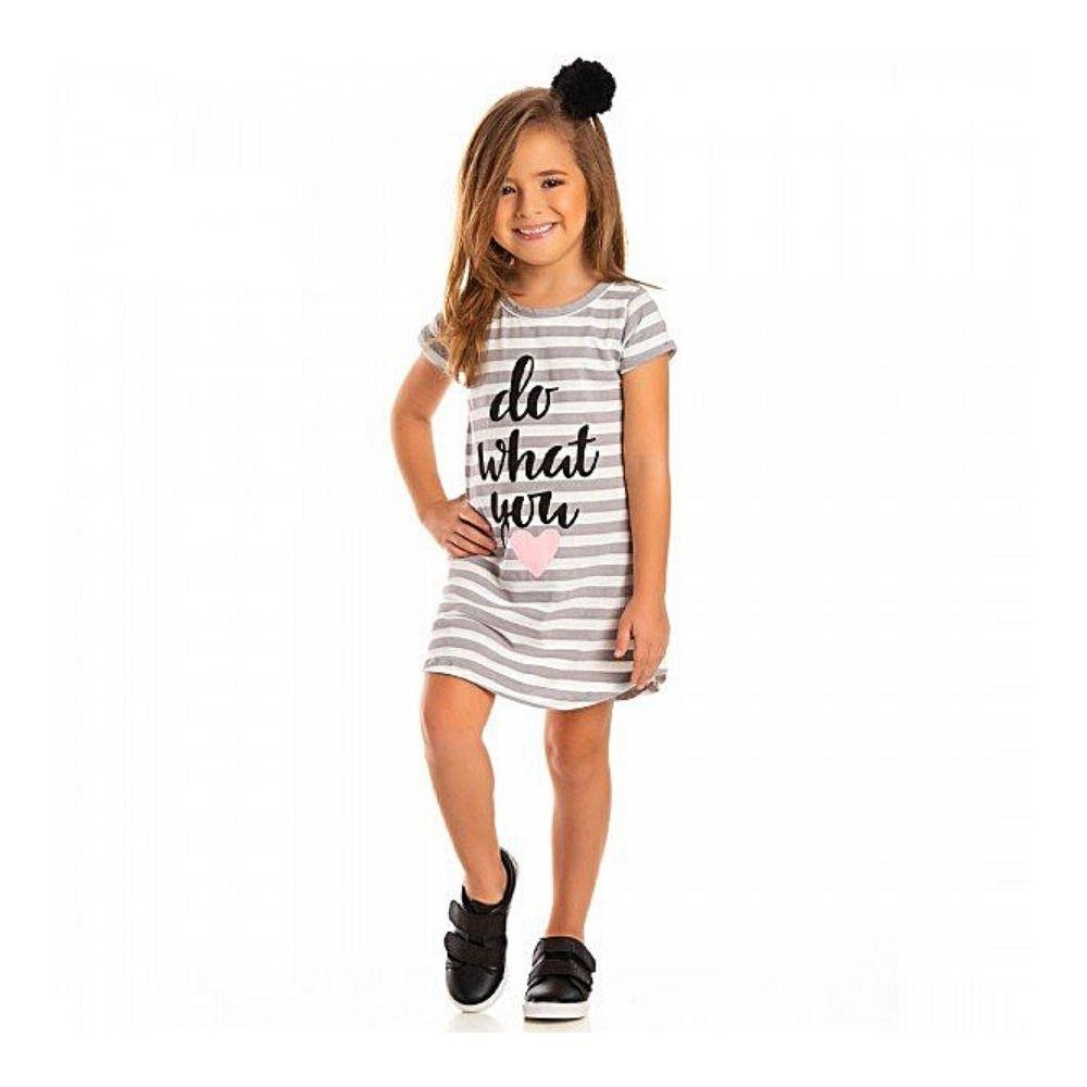 Vestido Infantil Coração - Ollelê Little