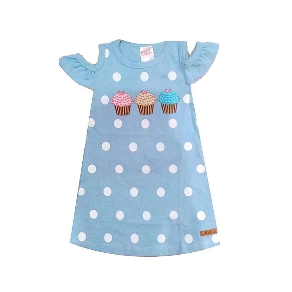 Vestido Infantil Cupcake Poá- Ollelê Little