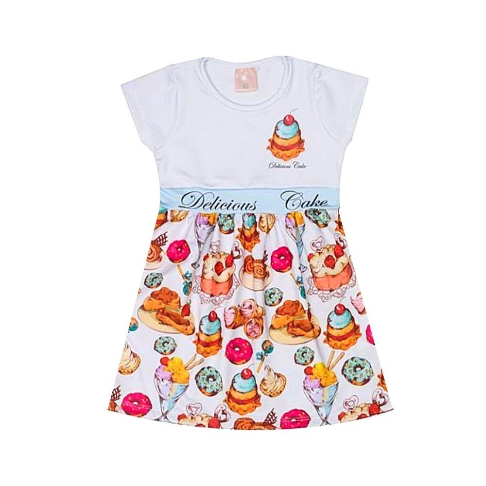 Vestido infantil Delicious Cake- Ollelê