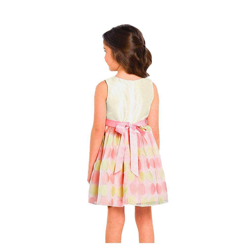 Vestido Infantil Festa Jacquard/Tafetá - Trick Nick
