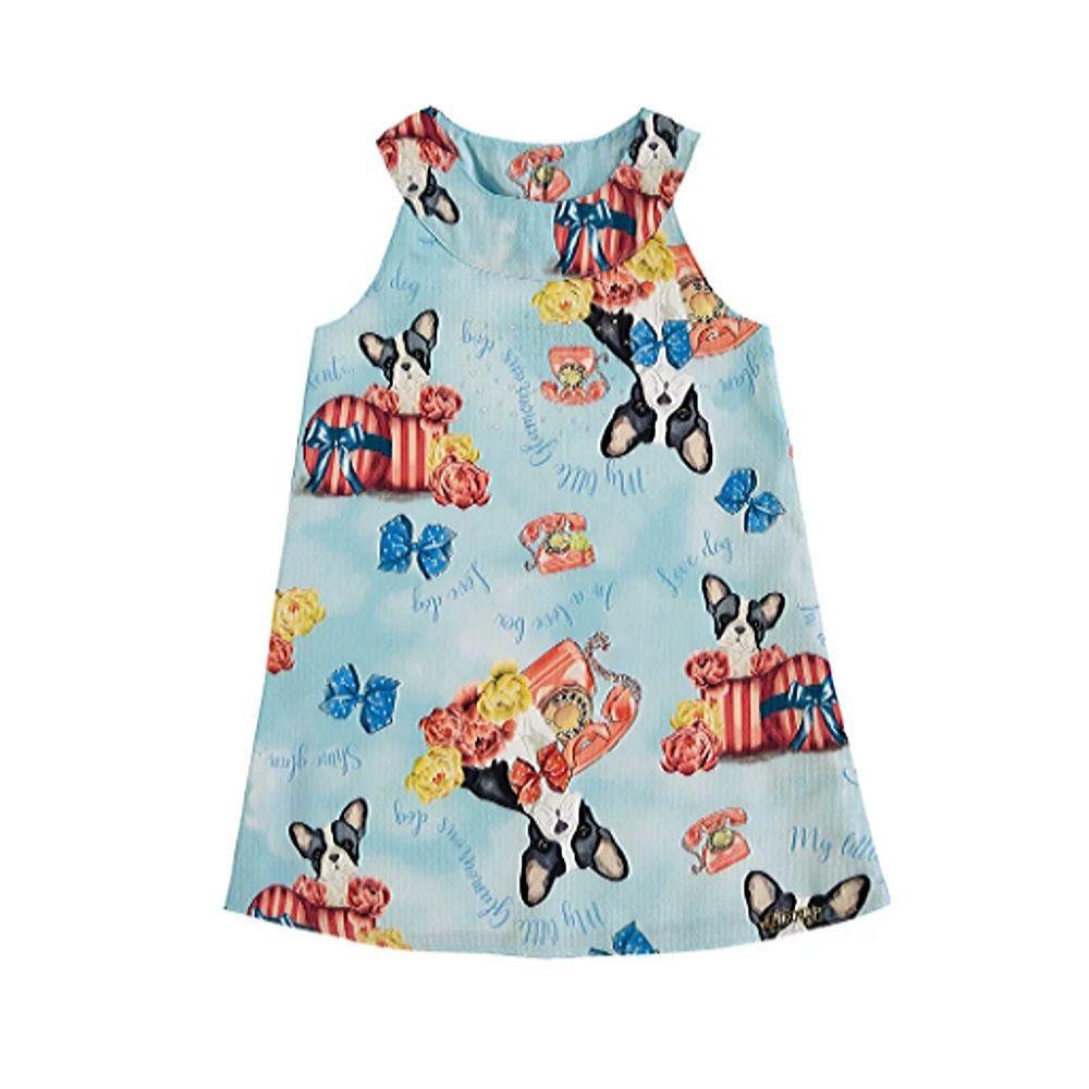 Vestido Infantil Love Dog- Glinny