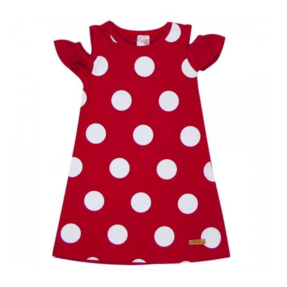 Vestido Infantil Poá - Ollelê Little