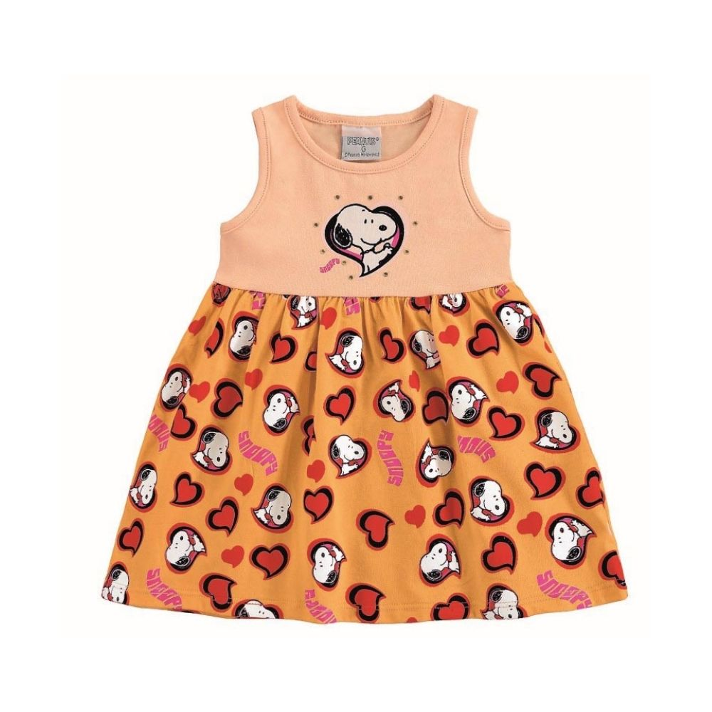 Vestido Infantil Snoopy - Marlan