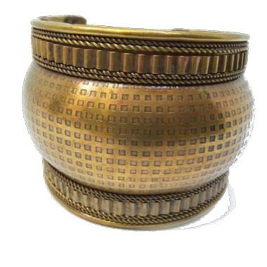 Bracelete Metal Dourado Envelhecido