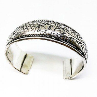 Bracelete De Metal Prateado