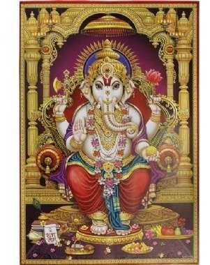 Painel De Ganesha Com Moldura