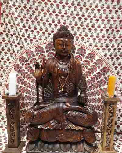 Estatua De Buda Sentado Karana Mais Um Brinde