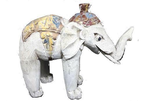 Elefante Madeira Decoração 30cm