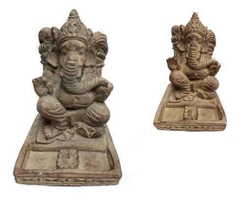 Suporte De Incenso Ganesha De Pedra