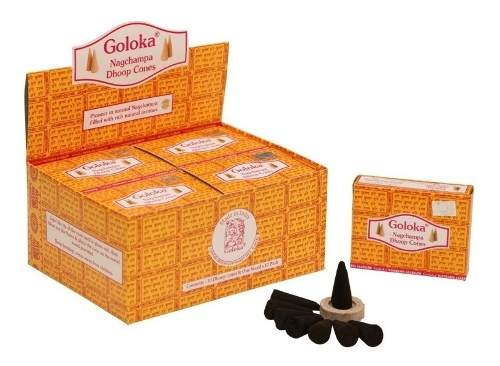 Incenso Goloka Nagchampa - Doop Cones - 10 Unidades