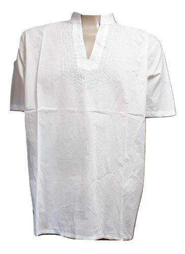 Bata Masculina Branca Plus Size