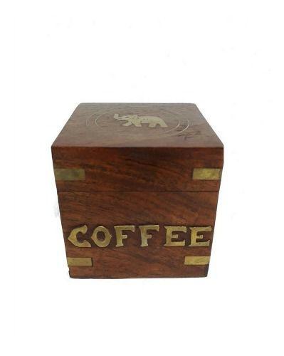 Caixinha Indiana De Madeira Coffee