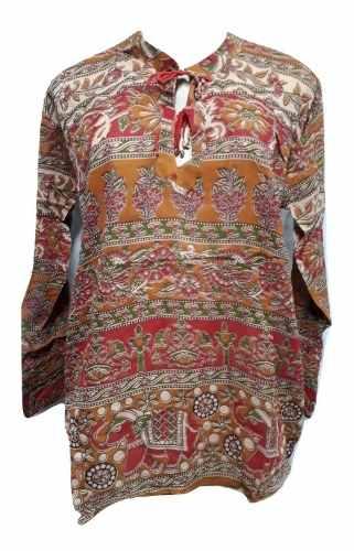 Blusa Feminina Indiana Tradicional De Algodão
