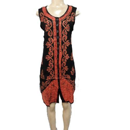Vestido Curto Indiano Bordado