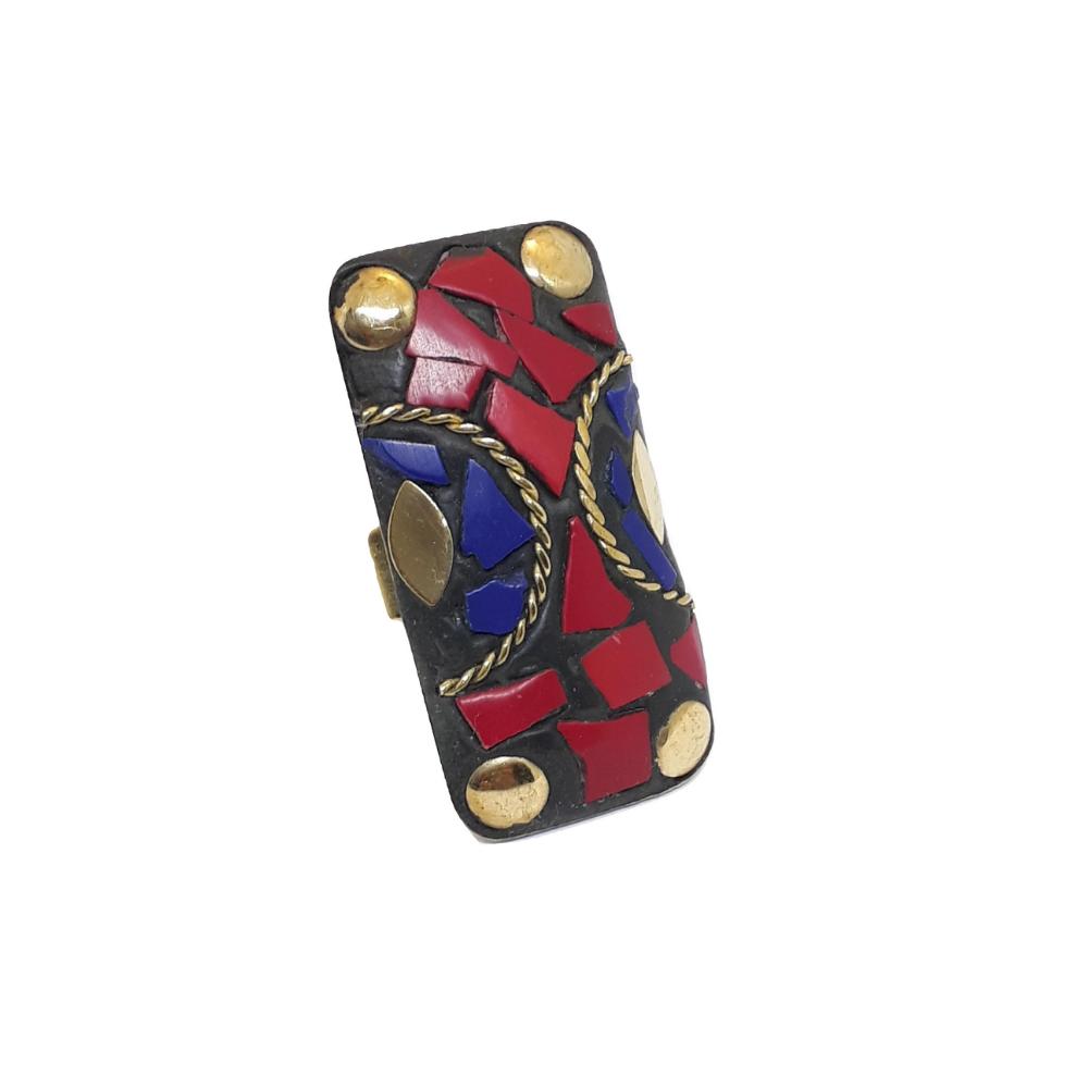 Anel de Mosaicos Coloridos