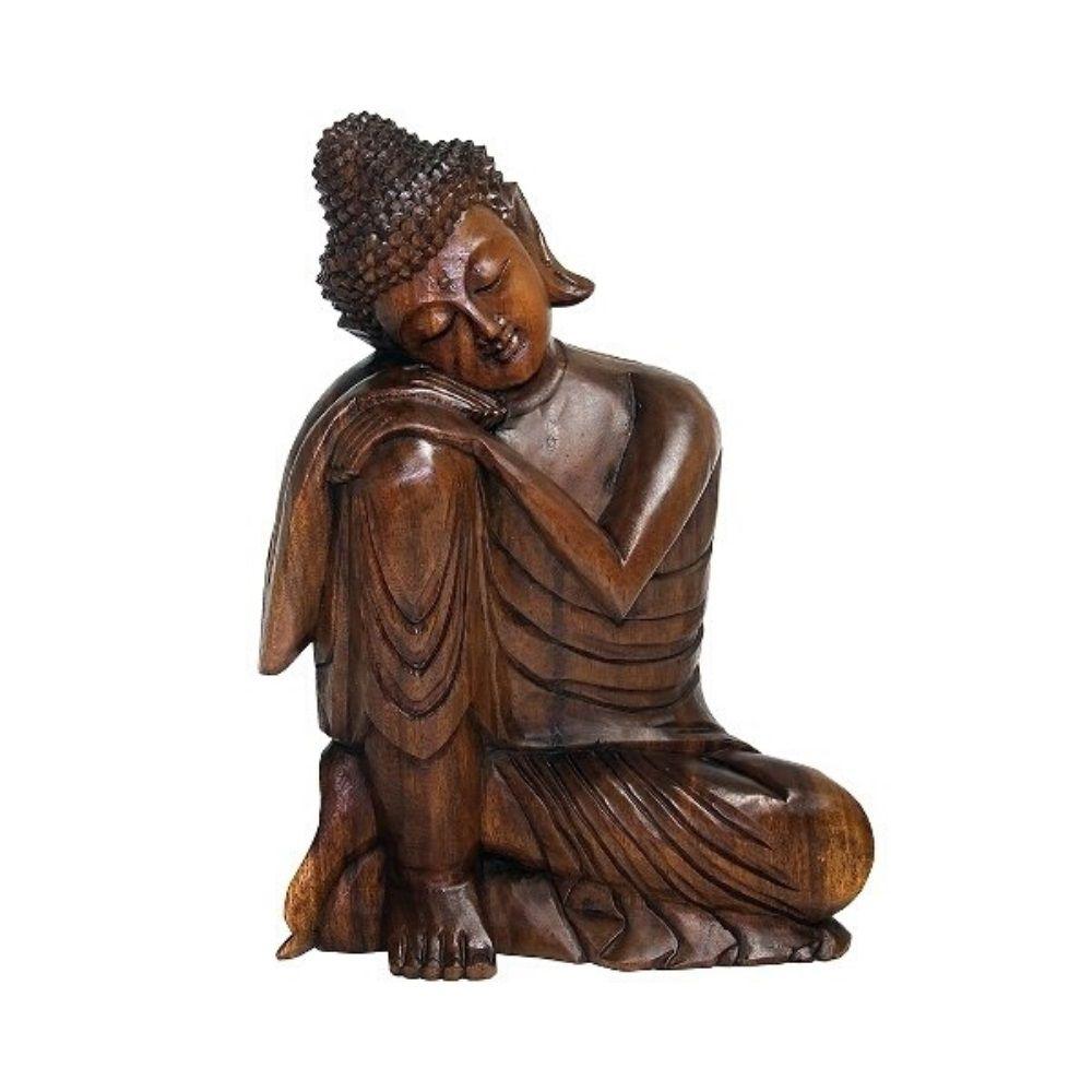 BALI Buda Reflexão Suar Wood 40Cm