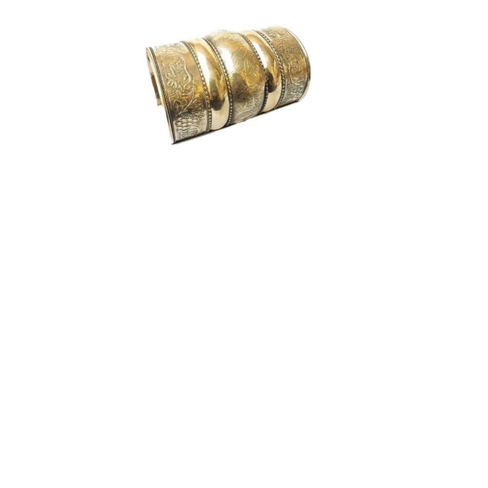 Bracelete Indiano Metal Ouro Envelhecido