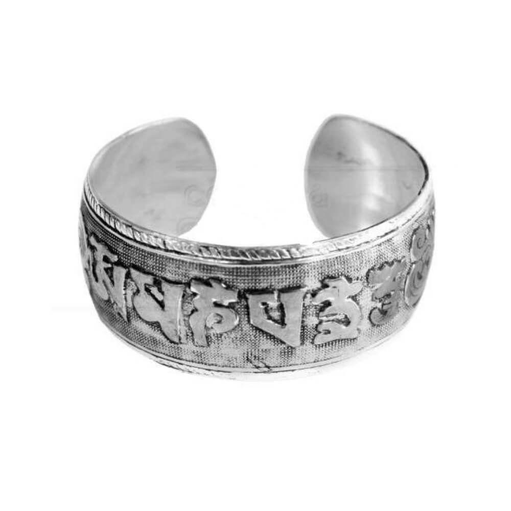 Bracelete Mantras Indiano Prateado