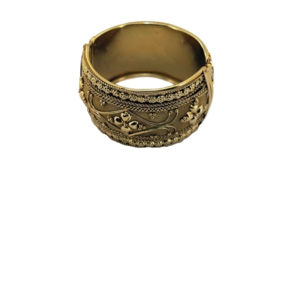 Bracelete Metal Dourado Indiano