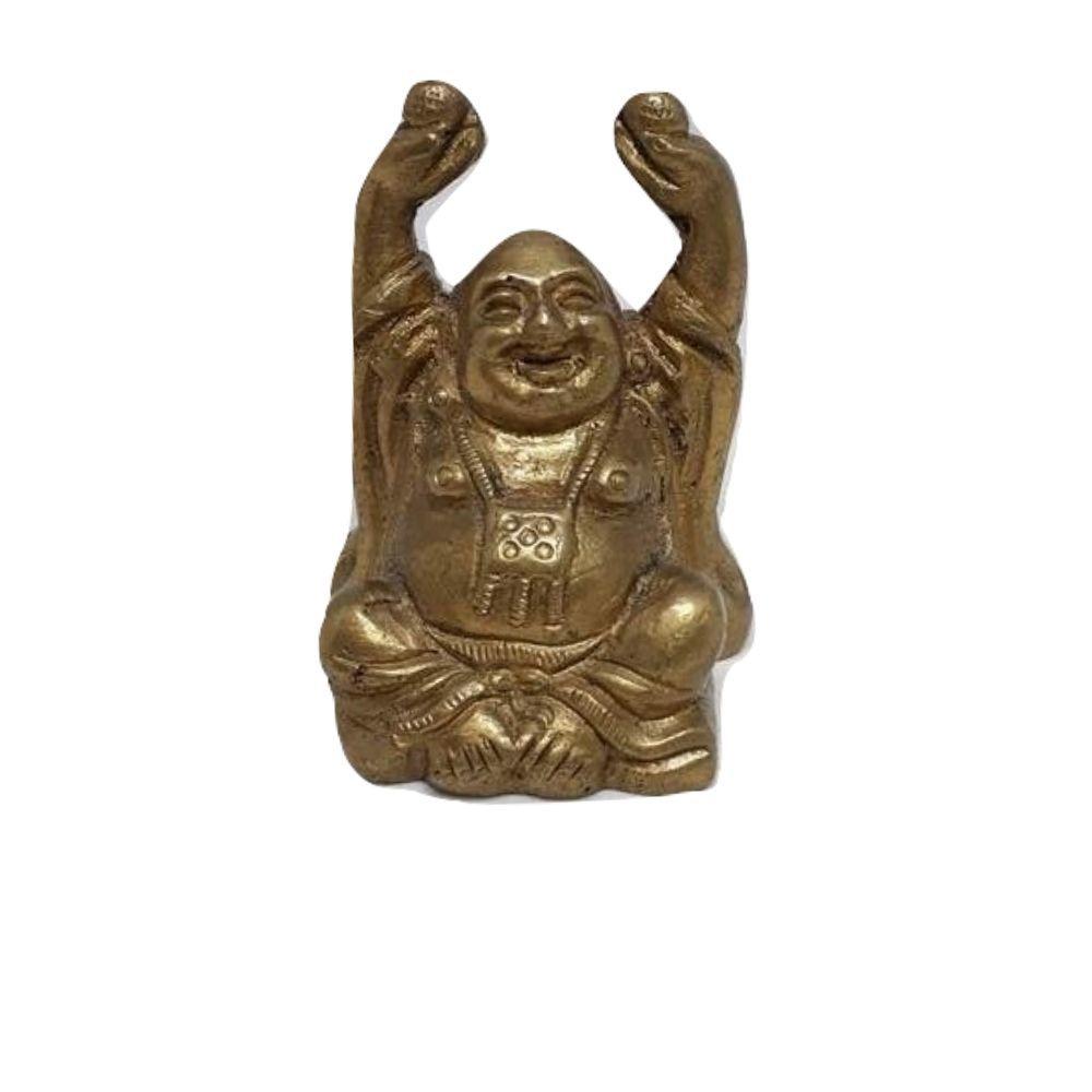 Buda Sorridente da Prosperidade 6 cm Bronze